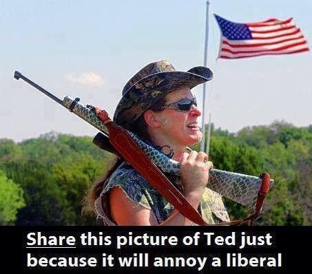 I'm a Liberal. Why should I be annoyed? That side profile makes for a nice headshot. Course, I'd use something a little bigger than a .22.