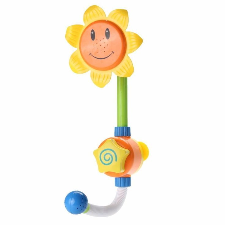 Kids Children Baby Bath Toy Sunflower Shower Faucet Bath Water Play Learning Toy Gift Retail Package Игрушки Для Купания
