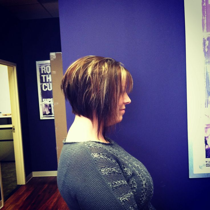 Dramatic Inverted Bob With Choppy Layers My Work