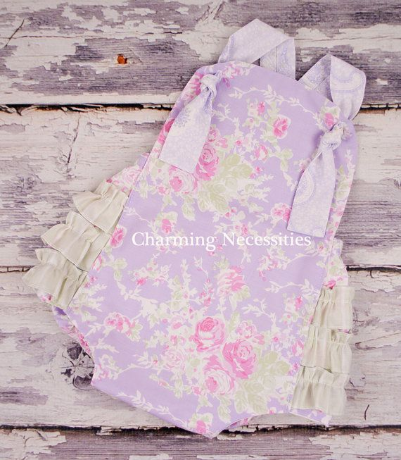612mo Ready to Ship Baby Girl Sunsuit by CharmingNecessities, $36.00
