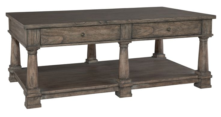 Lincoln Park Weathered Gray 2 Drawer Rectangle Cocktail Table