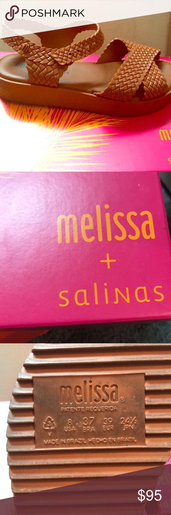 Melissa Salinas Platform Sandals👡✨ Melissa + Salinas Sandals in Brown. Worn Twice originally $115, Made in Brazil, still have the bubblegum smell. Melissa Shoes Sandals