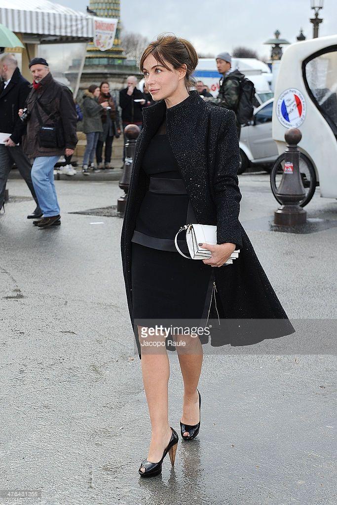 Photo d'actualité : Emmanuelle Beart is seen at Elie Saab show as...
