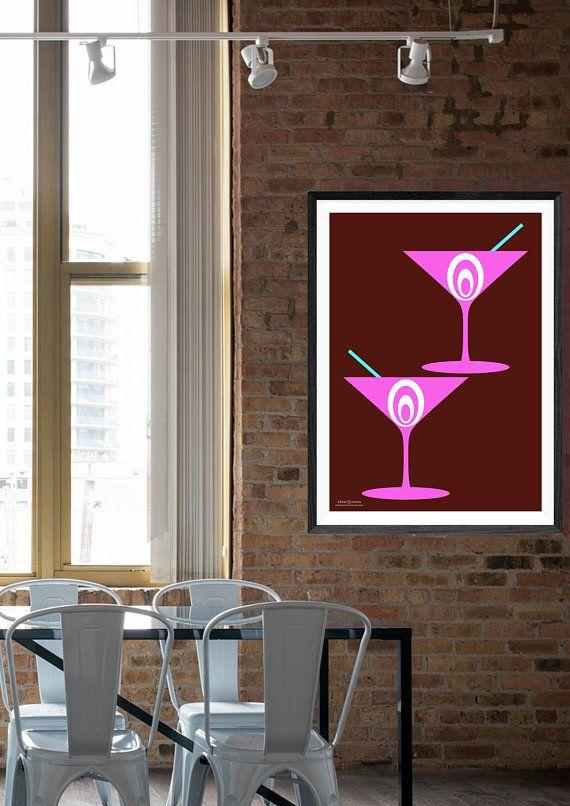 Retro Kitchen Art Modern Design Minimalist Wall Art