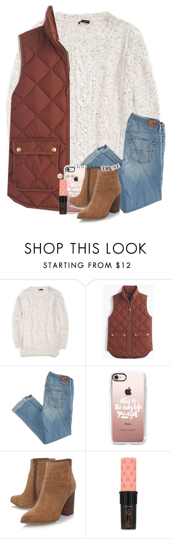 """ask me what's my best side I turn back and point at you"" by legitmaddywill ❤ liked on Polyvore featuring Tommy Hilfiger, J.Crew, American Eagle Outfitters, Casetify, Nine West, Benefit and Lord & Taylor"