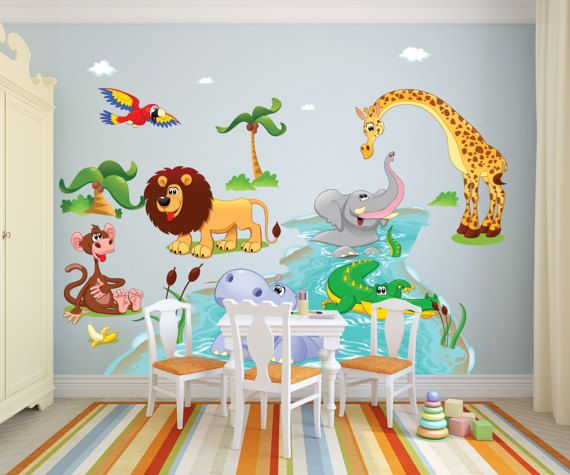 Unique Animal Wall Decals Ideas On Pinterest Bird Doodle - Zoo animal wall decals