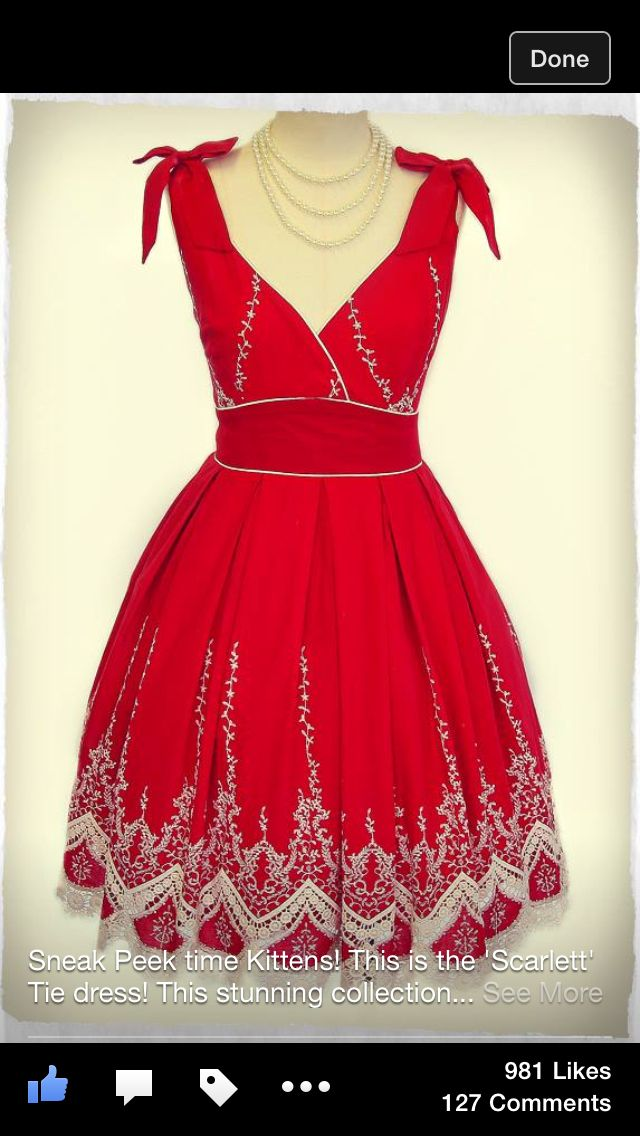New dress coming to Kitten D'Amour in September. Drool.