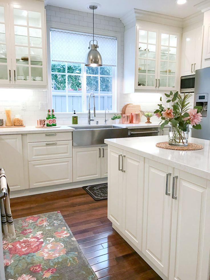 Ikea White Modern Farmhouse Kitchen Copper Kitchen Accessories