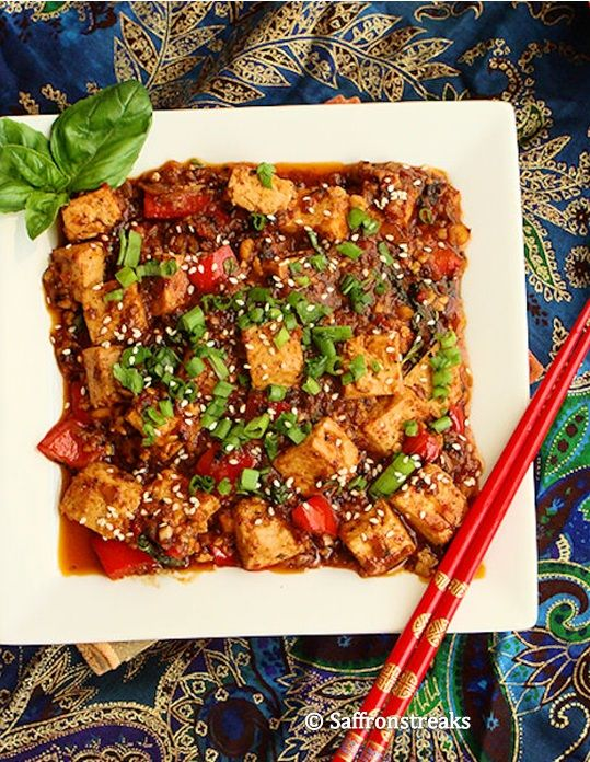 Thai style stir fried tofu with basil! This sounds absolutely amazing! Nothing boring about this... would be seriously loaded with flavour! And ready in just 20 minutes start to finish! Serve with rice, quinoa or salad (would probably be great in a wrap, burrito, taco or even a burger too, as long as you drain a bit of the sauce off so it isn't too sloppy !). #vegan #quick