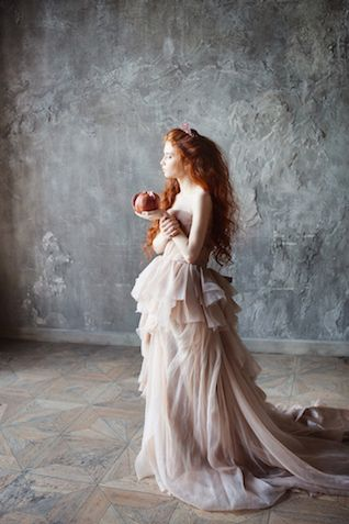 Blush pink wedding dress | Svetlana Strizhakova Photography