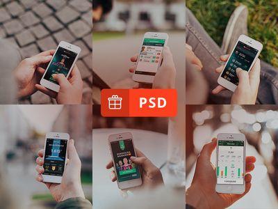 6 Photorealistic iPhone 5 mockups   הורדות אפליקציות שוות