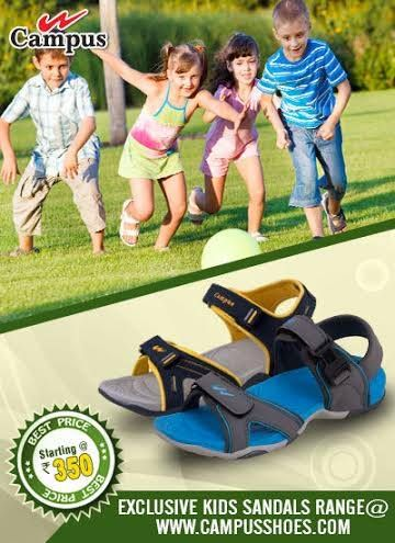 This pair of trendy and stylish sandals from Campus is comfy and sturdy to be worn all day. Buy now http://www.campusshoes.com/kids/sandals.html and win exciting gifts!!