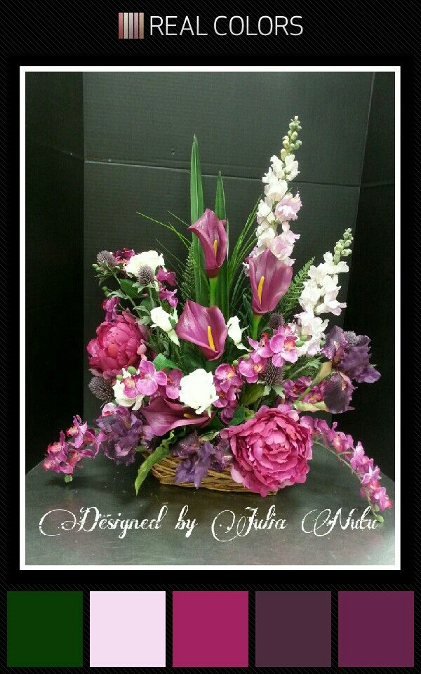 Contemporary floral design by Julia Nutu at Michaels Store