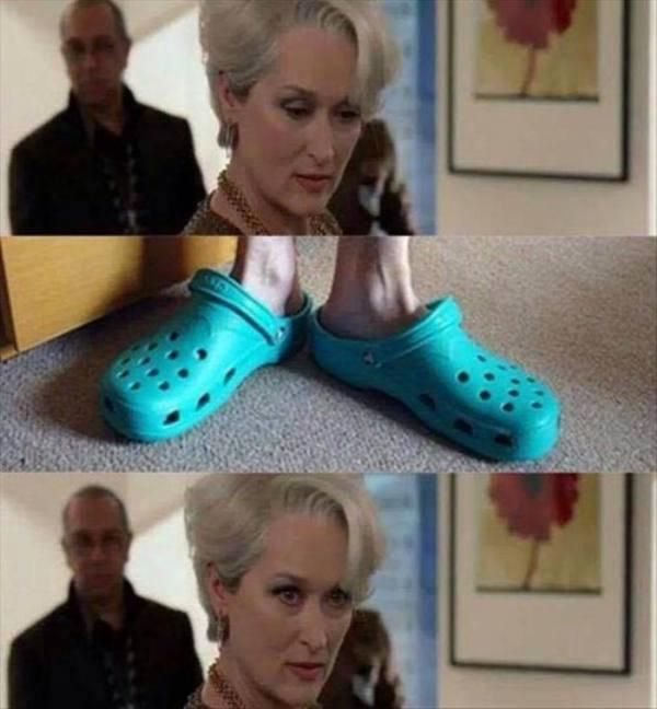 The exact look on my face the first time I ever saw crocs. My feelings have not changed.
