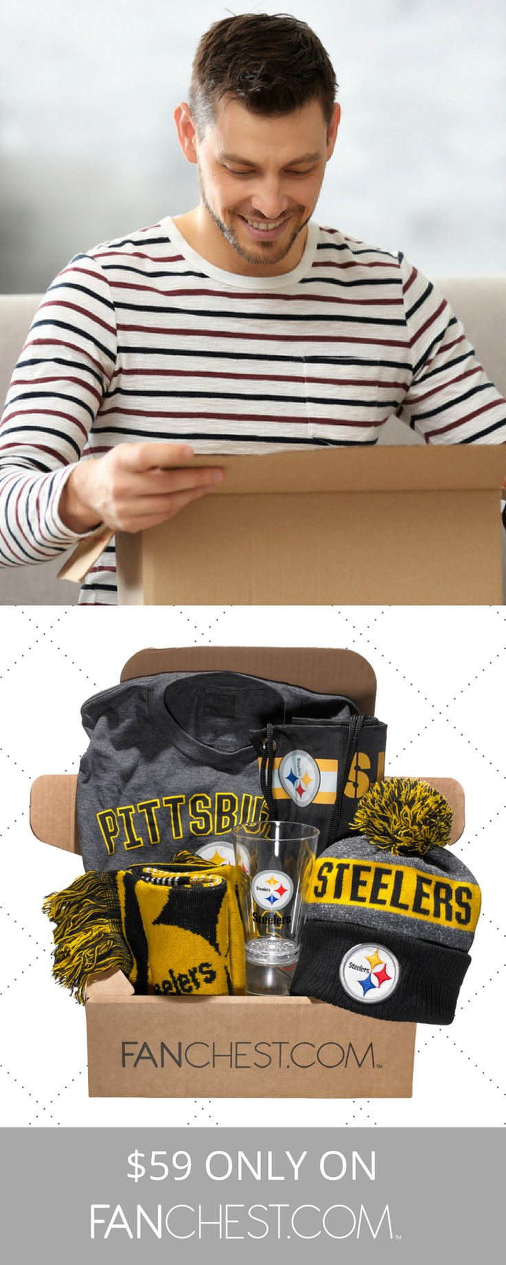 Pittsburgh Steelers Gear + Apparel + Merchandise - Perfect Gift for Steelers Fans