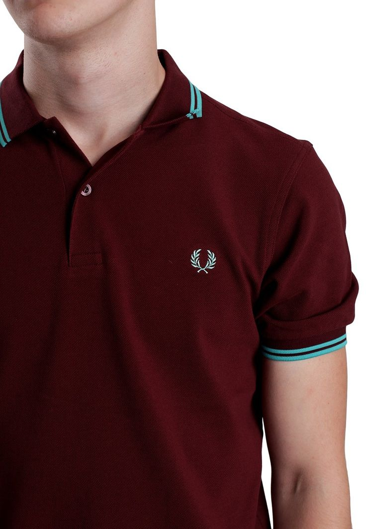 BURGUNDY POLO WITH BRIGHT TIPPING - Google Search