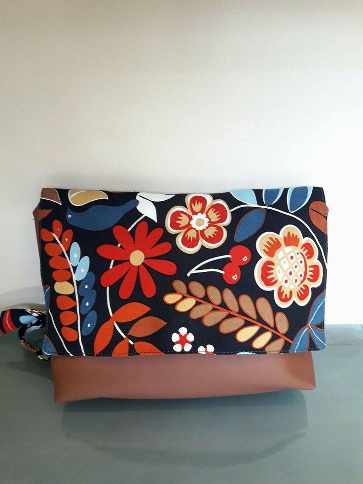 Messenger Bag, Crossbody Bag, Woman BAg, Gift for her, Shoulder Bag, Fabric Crossbody Bag by MissLaurel89 on Etsy