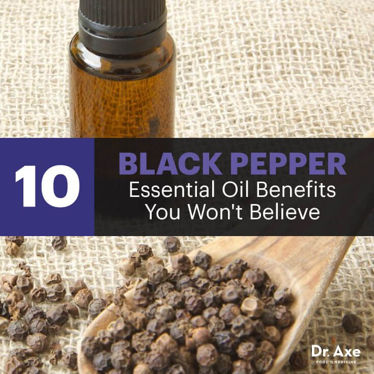Mix black pepper oil with cinnamon or turmeric essential oil to enhance these circulatory activities.