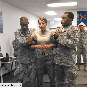 Air Force girl gets tasered