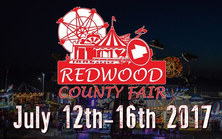 Visit the Redwood County Fair in Redwood Falls, MN at the Redwood County Fairgrounds. Entertainment, Grandstand Events, Attractions, Merriam's Midway, Demo Derby, Redwood Speedway, Enduro Racing, Food Stands, 4-H