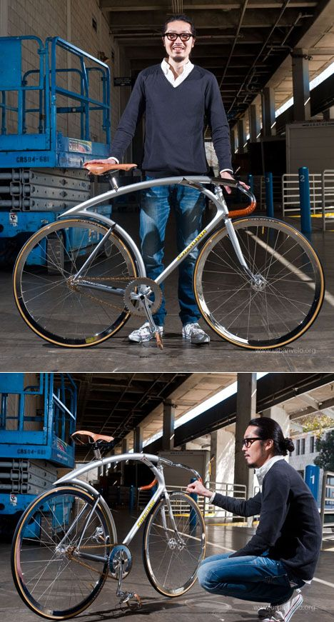 Tokyo-based Shinichi Konno designs bicycles with flow. His Silver Flyer track bike recently won both Best in Show and the President's Choice award at the North American Handmade Bicycle Show.