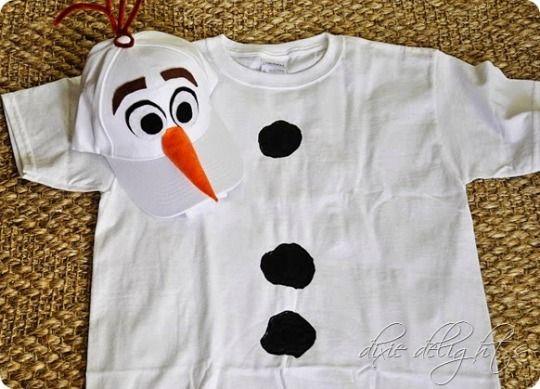 Disfraz sencillo de Olaf de Frozen