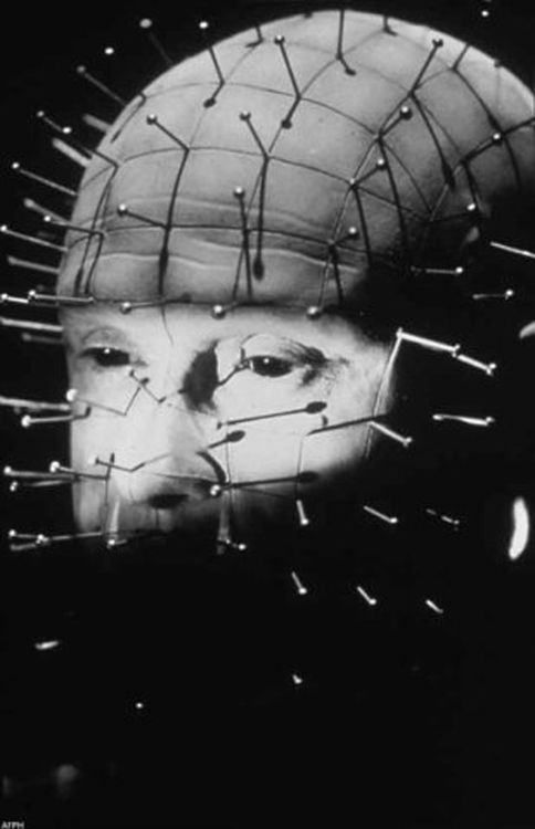 "Doug Bradley as the cenobite Pinhead in ''Hellraiser"", 1987, directed by Clive Barker! ♥"