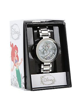 <p>Silver tone watch from Disney's <i>The Little Mermaid</i> with clear gem detailed Ariel shaker charms design.</p> <ul> <li>Metal</li> <li>Imported</li> </ul>