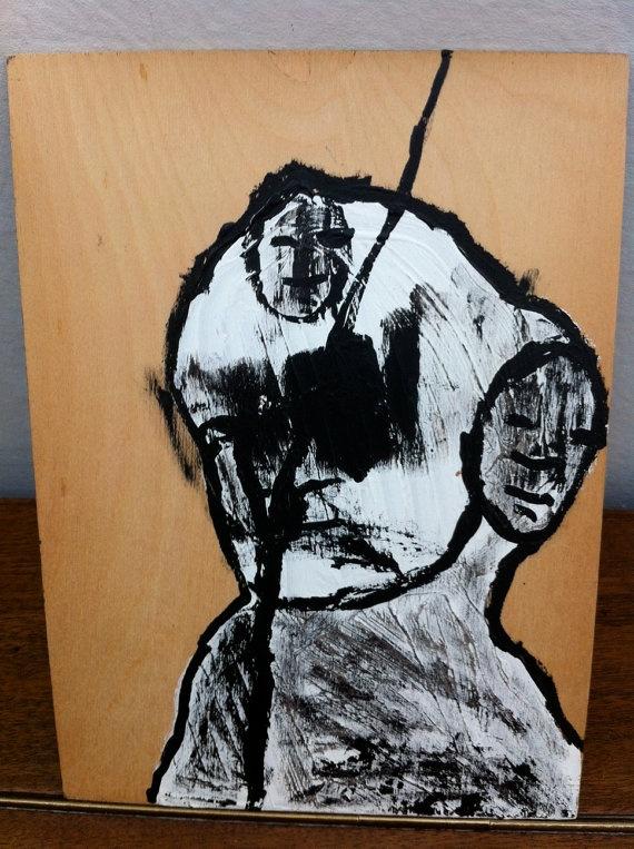 portrait on board by JeffreyLouisReed on Etsy, £15.00