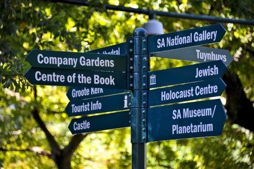 Signage in the Company Gardens, Cape Town