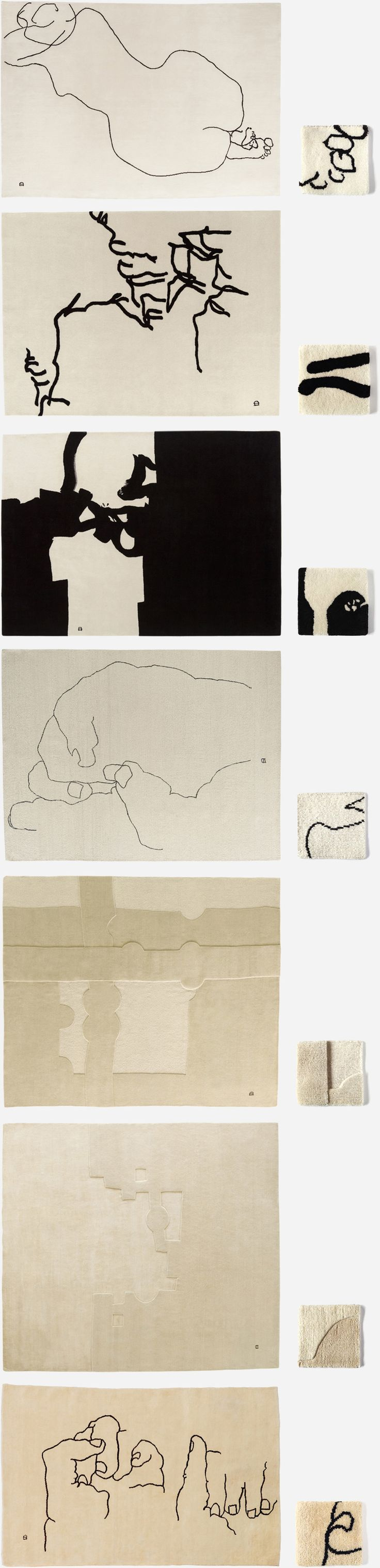 Beautiful hand made rug collection dedicated to Spanish artist Eduardo Chillida