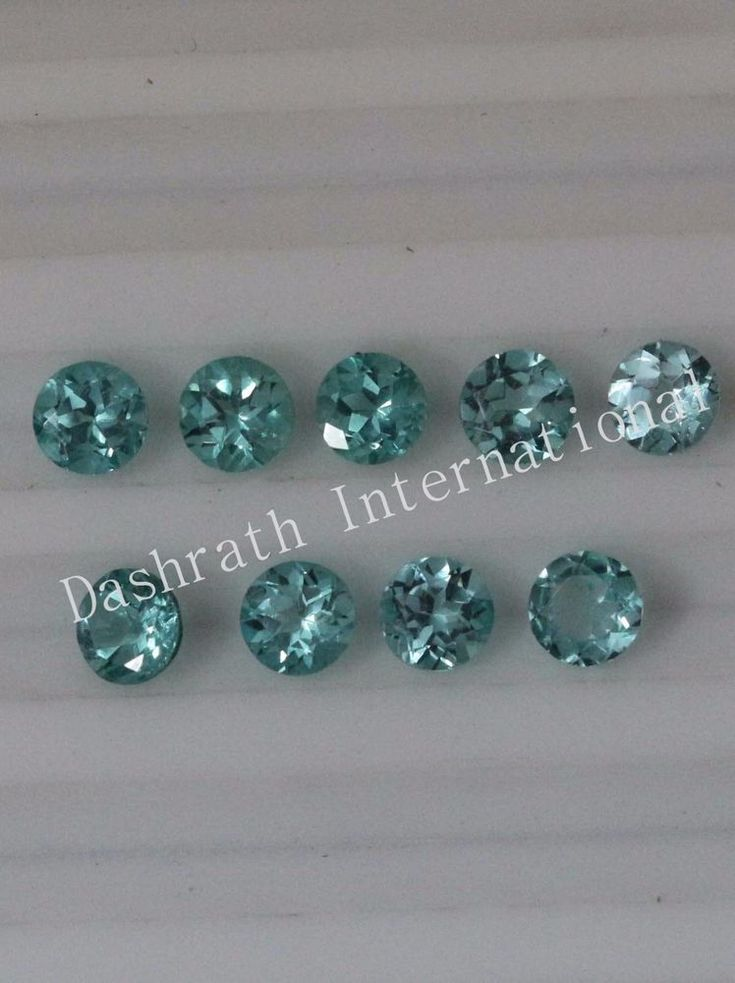 1MM TO 5MM 100% NATURAL APATITE FACETED CUT ROUND GREENISH COLOR LOOSE GEMSTONE  #gemjewel11