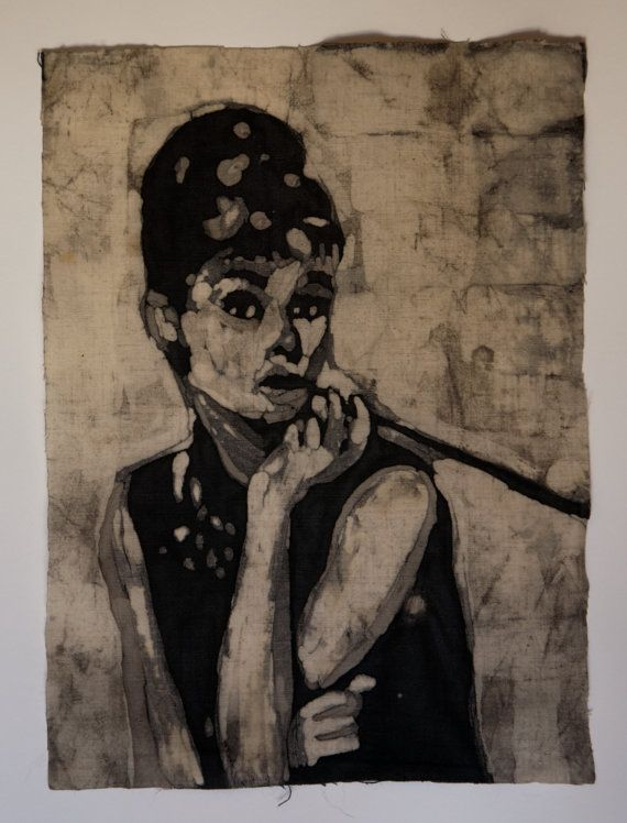 Audrey small batik painting by ManufactureBuchwald on Etsy, €29.00