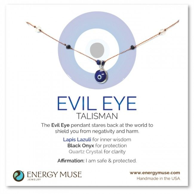 Evil Eye Talisman Necklace...because it sends the negative energy back to the person I would not reccomend these to anyone. An eye for an eye and the whole world goes blind. <3 v