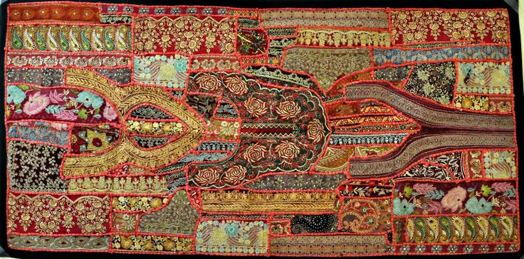 Jaipur Handloom Indian Vintage Handmade Patchwork Tapestry Wall
