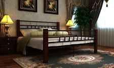 140x200 cm Bett Metallbett Bettgestell Schlafzimmerbett Doppelbett + Lattenrost