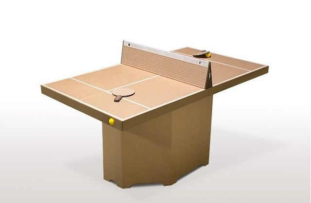 Ping Pong Table in Cardboard – Fubiz™
