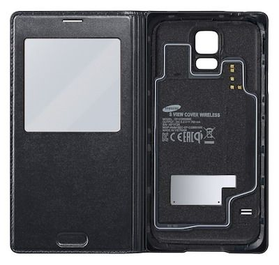 Wireless Charging Flip Cover S-view pre Samsung Galaxy S5 black