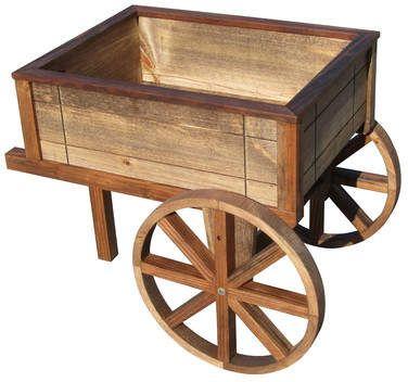 SamsGazebos Wood Wheelbarrow Planter
