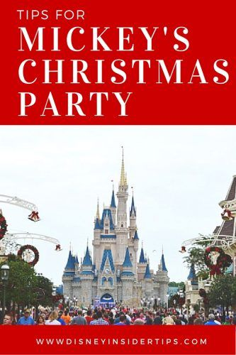 Tips for Attending Mickey's Very Merry Christmas Party