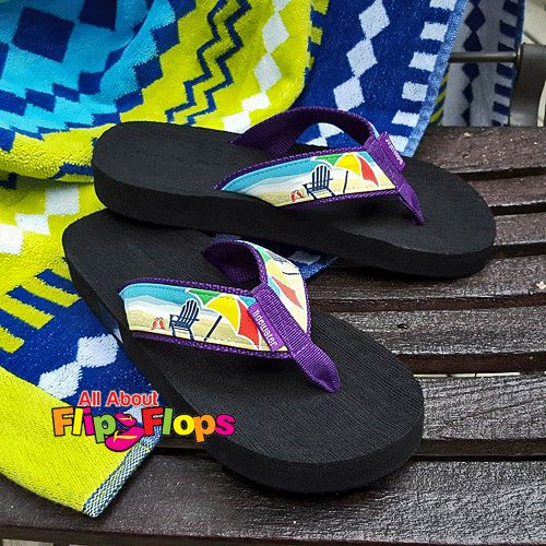 Our Beach Chair And Umbrella Flip Flops By Tidewater Are The Perfect  Combination Of Comfort And