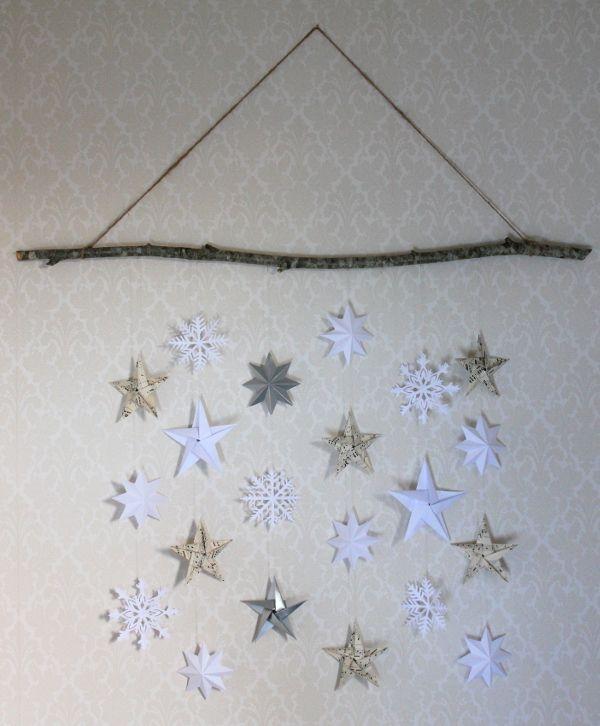 Inspirami - Monthly Makers Adventskalender DIY Vintrig väggdekoration