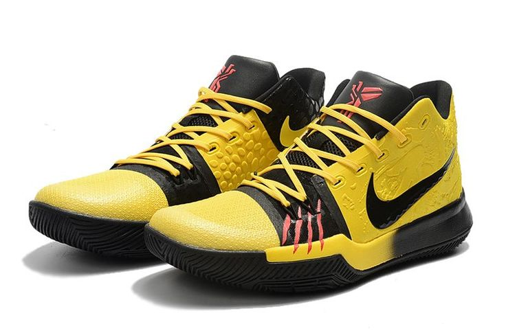 2017 Cheap Nike Kyrie 3 Bruce Lee Tour Yellow Black Shoes For