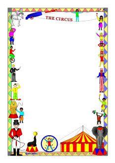Circus-themed A4 page borders (SB2359) - SparkleBox