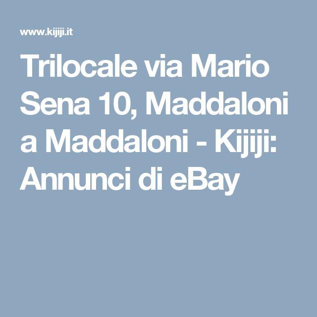 Trilocale via Mario Sena 10, Maddaloni a Maddaloni - Kijiji: Annunci di eBay