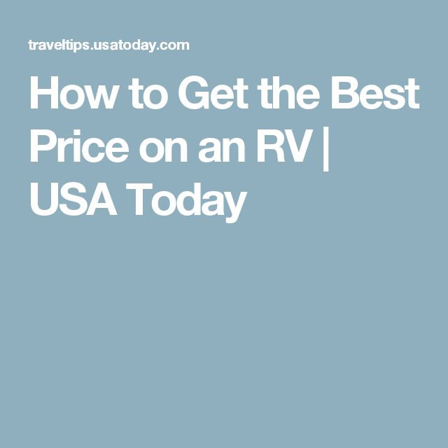 How to Get the Best Price on an RV | USA Today