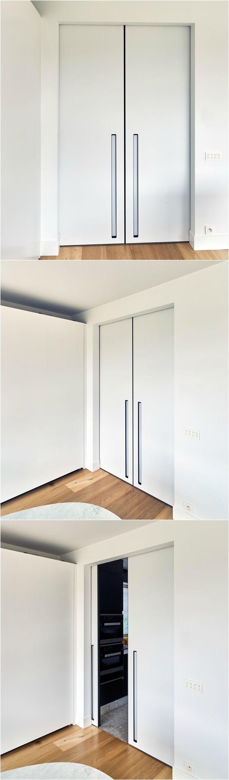 Dubbele schuifdeur op maat van anyway doors schuifdeur for Double sliding doors interior