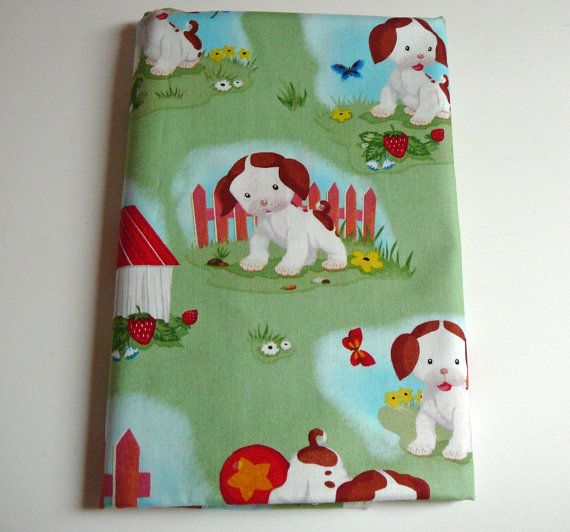 Poky little puppy fabric storybook characters golden for Baby nursery fabric yard