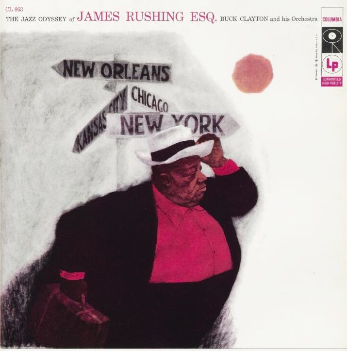 Tom Allen / S. Neil Fujita, cover for The Jazz Odyssey of James Rushing, 1957. Columbia Records. Source