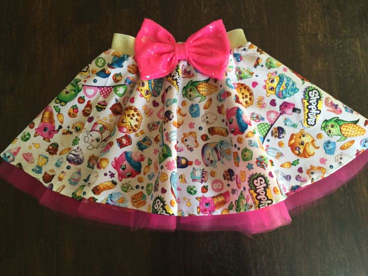Our SHOPKINS character skirts are perfect for your fabulous babies birthday. Complete the outfit with our SHOPKINS tank top. You can always add a bow headpiece and necklace for the perfect look. The b